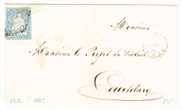 Schweiz ZU.#23C Auf Briefhülle Von Renan Nach Courtelary - Lettres & Documents