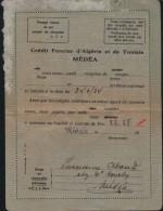 Credit Foncier D'Algerie Et De Tunisie-MEDEA-Algerie-époque Coloniale - Cheques & Traverler's Cheques