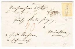 Schweiz Eschenbach Langstempel Zu.#25G  27.7.18?? Luzern Brief Nach Münster - 1854-1862 Helvetia (Non-dentelés)