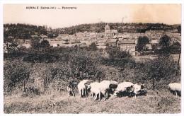 CPA : AUMALE - Panorama - Moutons, Brebis à L'avant-plan. - Aumale