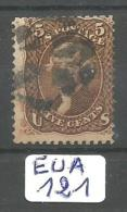 EUA Scott  76 Black And Red Cancels YT 21 # - Used Stamps
