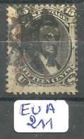 EUA Scott  77 Black And Red Cancel ETATS-UNIS YT 28 # - Used Stamps