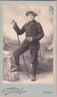 Vieille Photo Militaire  23e Bataillon Alpin De Chasseurs à Pied Superbe Plan  Format Cdv  Avant  1914 Ww1 - Guerre, Militaire