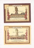 SAUMUR CHAMPIGNY LES CHASSOIRS à CHINON 2 étiquettes Neuves Rouge Et Blanc Le Moulin - Vino Tinto