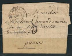 FRANCE 1831  Marque Postale Taxée  De Auray (écrite à Quiberon) - 1801-1848: Precursori XIX