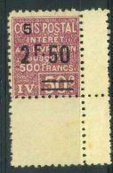 FRANCE ( COLIS POSTAUX ) :  Y&T N°  76  TIMBRE  NEUF  AVEC  TRACE  DE  CHARNIERE ,  A  VOIR . - Nuovi