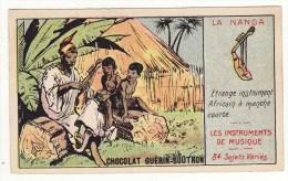 CHROMO Chocolat Guérin-Boutron Les Instruments De Musique La Nanga Etrange Instrument Africain - Guerin Boutron