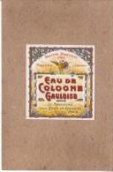 PARFUMS - LOT DE 9 ETIQUETTES - EAU DE COLOGNE , HUILE , EAU DE SENTEUR , SAVON DE TOILETTE , LOTION - Labels