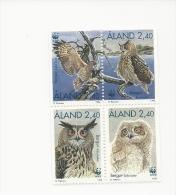 Aland  1996 WWF The Eagle Owl Set MNH - Hiboux & Chouettes