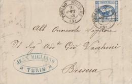 LITO58 - 15 Cent. Lito 2° Tipo Lettera Con Testo Del 2 Ottobre 1863 Da Torino A Brescia - VARIETA' -  Leggi - 1861-78 Vittorio Emanuele II