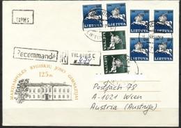 Litauen      -  Mi.Nr.   493 + 494    - Gestempelt   Express - Brief - Litauen