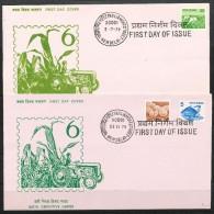 INDIEN -   Mi.Nr.   792-794  Sonderstempel     Freimarken: Landwirtschaft - Briefe U. Dokumente