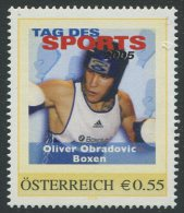 ÖSTERREICH / PM Tag Des Sports 2005 / Oliver Obradovic - Boxen / Postfrisch / MNH /  ** - Personalisierte Briefmarken