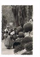 CPSM - Monaco - Jardins Exotiques, Costumes Monégasques - (041) - Giardino Esotico