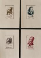 SAVANTS DE L'ANCIENNE CHINE 1955 - NEUFS * SUR FEUILLETS DE PAPIER BLANC - YT BL 4/7 - MI BL 1/4 - Neufs