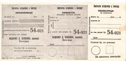 CHEUQUE-KINGDOM OF YUGOSLAVIA 1930th - Cheques & Traverler's Cheques