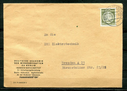 "DDR 1957 Dienst  Bedarfsbrief Mit Mi.Nr.D 8 ""Hertz Institut,Berlin-DHZ Elektrotechnik,Dresden ""1 Beleg Used - DDR"