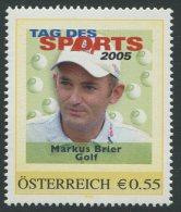 ÖSTERREICH / PM Tag Des Sports 2005 / Markus Brier - Golf / Postfrisch / MNH /  ** - Personalisierte Briefmarken