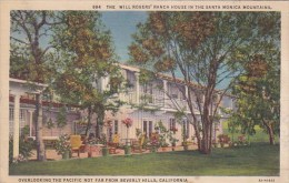 The Will Rogers Ranch House In The Santa Monica Mountains Califo