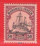 MiNr. 21 X (Falz)  Deutschland Deutsche Kolonie Marshall-Insel - Colony: Marshall Islands