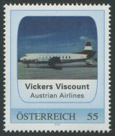 ÖSTERREICH / PM Vickers Viscount - Austrian Airlines / Postfrisch / ** - Personalisierte Briefmarken
