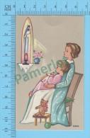 """YVERS ( GBB-VIC-89 """" ENFANTS  CONTEMPLANT LA VIERGE MARIE   """" ) Santino Holy Card  Image Pieuse 2 Scans - Devotion Images"""
