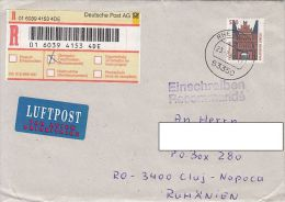 25351- LUBECK HOLSTEN GATE, STAMPS ON REGISTERED COVER, 1998, GERMANY - Storia Postale