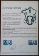 COLLECTION HISTORIQUE - YT N°1797 - ORDRE DE LA LIBERATION - 1974 - FDC