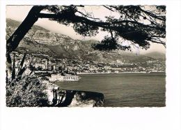 CPSM - .Monaco - Monte Carlo - Au Fond , Le Beach Et Roquebrune -   (143) - Monte-Carlo