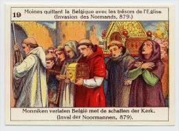 Belgische Geschiedenis - Histoire De Belgique - 19 - Moines, Monniken, Monks, Normands, Vikings - Chromos