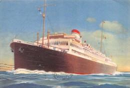 "02033  ""MOTONAVE VIRGILIO TONN 11718 - ITALIA FLOTTE RIUNITE-GENOVA - EQUADOR/ITALIA "" CART. POSTALE.  SPEDITA 1936 - Banche"