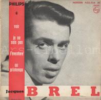 "JACQUES BREL"" Disque Vinyle LP Album 45t Bon Etat Ca 1950 Rare - Vinyles"