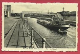 Halle - Het Kanaal -Binnenschip ( Verso Zien ) - Halle
