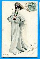 LIPP655, Femme Avec Un Chapeau Et Une Longue Robe ,circulée 1903 - Femmes