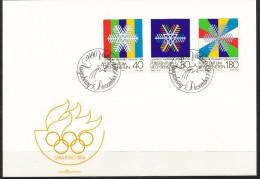Liechtenstein - FDC  -  Mi.Nr.  834 - 836    -  Olympische Winterspiele 1984, Sarajevo - FDC