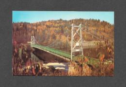PONTS - BRIDGES - LA TUQUE - QUÉBEC - PONT ST MAURICE  EXISTE DEPUIS 1917 - PHOTO GILLES BERTHIAUME - Ponts