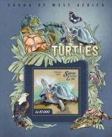 SIERRA LEONE 2015 - Turtles, Dinosaur S/S I. Official Issue. - Prehistorisch