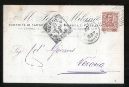 MILANO - 1906 - FELS - FABBRICA DI BAMBOLE - Jeux Et Jouets
