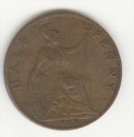 1/2 Penny Grande-Bretagne / Great Britain 1908 Edouard VII / Edward VII - C. 1/2 Penny
