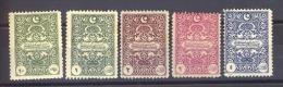 00738 -  Turquie  -  Taxes  :   Mi  47-51  * - 1921-... République