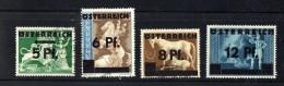 1945  Timbres Allemands Surchargés Autriche Et Nouvelles Valeurs  MiNr 664-7 - 1945-.... 2ème République