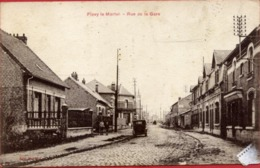 02 FLAVY-LE-MARTEL - Rue De La Gare - Animée - Frankreich