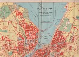 Map Of Geneva - Genf - Genève - Switzerland - From 1925 - Geographische Kaarten