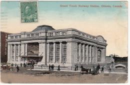Ottawa Ontario Canada – Grand Trunk Railway Station  – Torn Corner (see 2 Scans) – Stamp & Postmark 1914 - - Ottawa