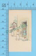 Petites Image Pieuse ( KGO Serie 12/6  Pour Enfants, Offrant Des Fleurs) Holy Cards Santini 2 Scans - Devotion Images