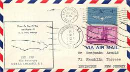 1967  Cover Flown On One Of The Last Flights Of U.S. Navy Airships  Lakehurst NJ  Cachet - Air Mail