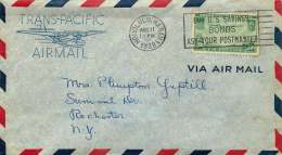 1938  Trans-Pacific Airmail From Honolulu To NY  Sc C21 - Air Mail