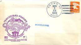 1978 Air Mail Letter Fromm Agana, Guam First Flight Honolulu-Guam-Taipei   «Cacheted In Error» - Air Mail