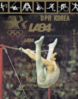1983 North Korea Stamp S/s 1984 Olympic Games-Gymnastics Sport Cycling Soccer Horsing Rowing Wrestling - Gymnastics