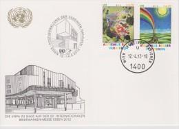 United Nations Show Card 2012 ´Essen´ - April 2012 - Mi 746-747 Autism Awareness - Centre International De Vienne